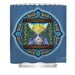 Celtic Sun Moon Hourglass Shower Curtain