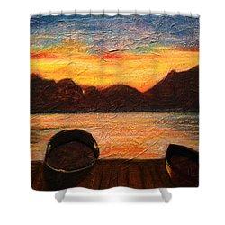 Celtic Sunset Shower Curtain