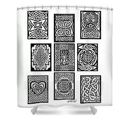 Celtic Tarot Spread Shower Curtain