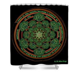 Celtic Tree Of Life Mandala Shower Curtain