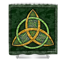 Celtic Trinity Knot Shower Curtain by Kristen Fox