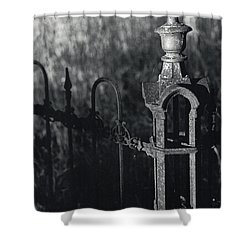 Cemetery  Fence Shower Curtain