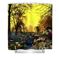 Cemetery In Feast Of The Dead Shower Curtain
