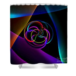 Center Circles Shower Curtain