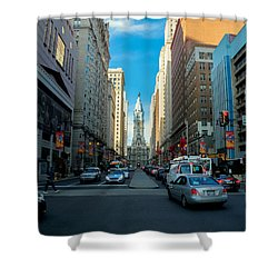 Center City Shower Curtain by Carlos Oropeza