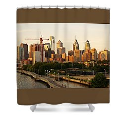 Shower Curtain featuring the photograph Center City Philadelphia by Ed Sweeney