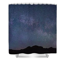 Center Of The Milky Way Over The Badlands Shower Curtain