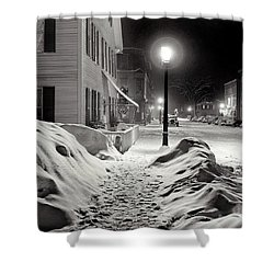 Center Of Town Woodstock  Vermont Medium Format Acetate Negative By Marion Post Wolcott March 1939 Shower Curtain