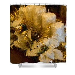 Centerpiece For Christmas Shower Curtain