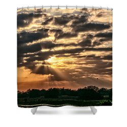 Shower Curtain featuring the photograph Central Florida Sunrise by Christopher Holmes