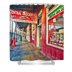 Central Grocery And Deli In The French Quarter Shower Curtain