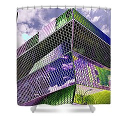 Central Library  Seattle Shower Curtain by Tim Allen