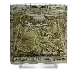 Central Park 1863 Shower Curtain
