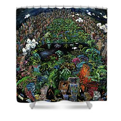 Central Park Shower Curtain by Antonio Ortiz