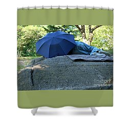 Central Park Beauty Rest Shower Curtain by Vinnie Oakes
