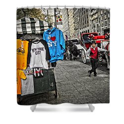Central Park Carriage Horse Shower Curtain by Joan Reese
