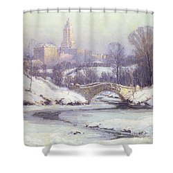 Central Park Shower Curtain by Colin Campbell Cooper
