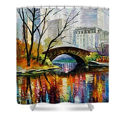 Central Park Shower Curtain by Leonid Afremov