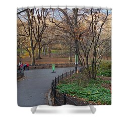 Shower Curtain featuring the photograph Central Park by Melinda Saminski