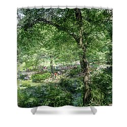 Central Park Montage Shower Curtain