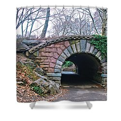 Central Park, Nyc Bridge Landscape Shower Curtain