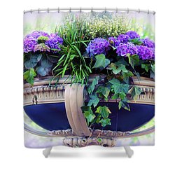 Shower Curtain featuring the photograph Central Park Planter by Jessica Jenney