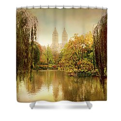 Shower Curtain featuring the photograph Central Park Splendor by Jessica Jenney