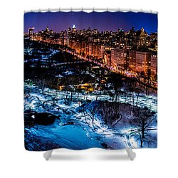 Shower Curtain featuring the photograph Central Park by M G Whittingham