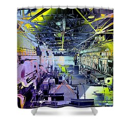 Grunge Central Power Station Shower Curtain