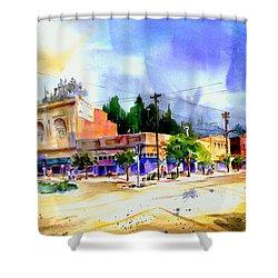 Central Square Auburn Shower Curtain
