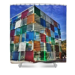 Centre #pompidou #malaga #museo #museum Shower Curtain
