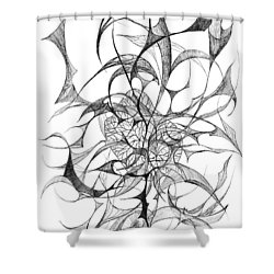 Centred Shower Curtain