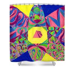 Centrifugal Shower Curtain by Kim Sy Ok