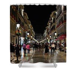 Centro De Malaga By Night - #ig_malaga Shower Curtain