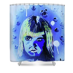 Shower Curtain featuring the painting Cereal Killers - Boo Berry  by eVol i