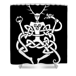 Cernunnos Bw Shower Curtain