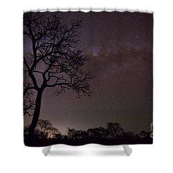 Shower Curtain featuring the photograph Cerrado By Night by Gabor Pozsgai