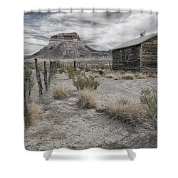 Cerro Castellan - Big Bend  Shower Curtain