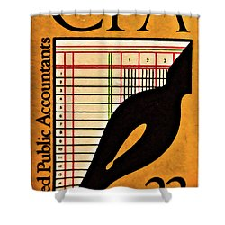 Certified Public Accounting Issue Shower Curtain