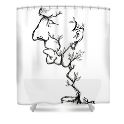 Cesar Salad-cracked Pots Shower Curtain