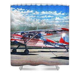 Cessna 140 Shower Curtain