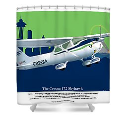 Cessna Skyhawk 172 Shower Curtain