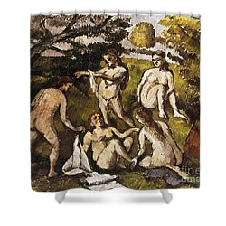 Cezanne: Five Bathers Shower Curtain by Granger