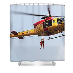 Ch-146 Griffon Of The Canadian Forces Shower Curtain by Timm Ziegenthaler