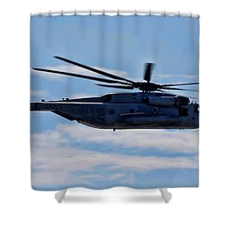 Ch-53d Sea Stallion - 2 Shower Curtain by Tommy Anderson