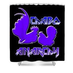 Chabo Anarchy Bluepurple Shower Curtain