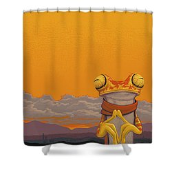 Chachi Tree Frog Shower Curtain