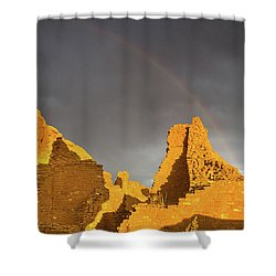 Chaco Canyon Rainbow Shower Curtain