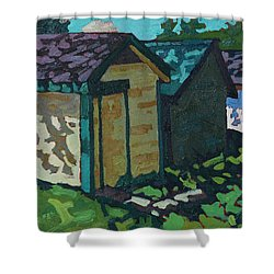 Chaffey Boat Houses Shower Curtain