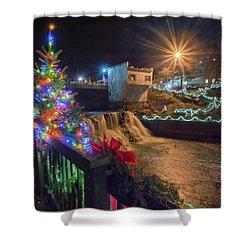 Chagrin Falls At Christmas Shower Curtain